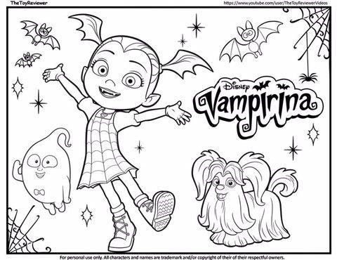 디즈니 주니어 vampirina 리나는 뱀파이어 색칠공부 프린트 도안 모음! - 2020(이미지 포함 ...