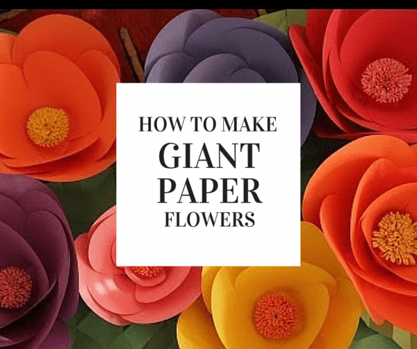 How to make giant paper flowers giant paper flowers giant flowers construction paper mightylinksfo