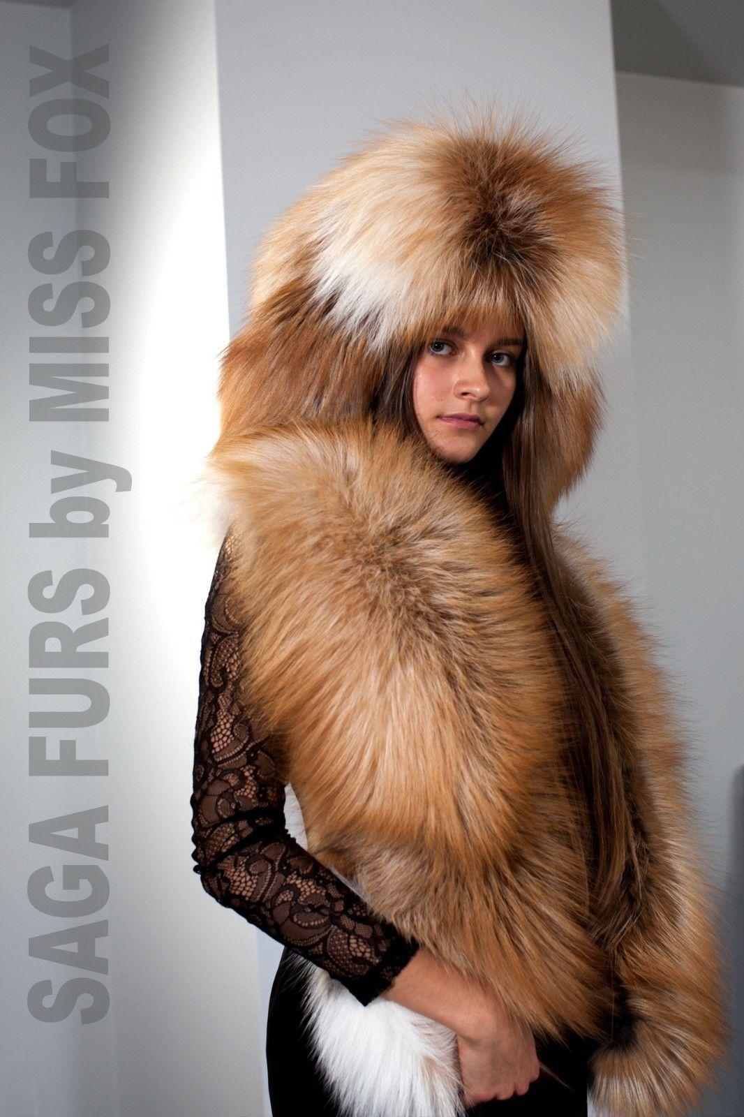 Natural Raccoon Fur Ushanka Hat With Leather Saga Furs Regular Men/'s Size Hat