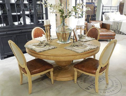 Magnolia Home round dining table magnolia Pinterest Round