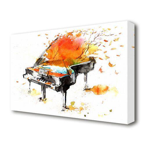 East Urban Home Leinwandbild Autumn Piano | Wayfair.de #pianomusic