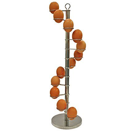 Stylish Spiral Shaped Egg Holder Rack - Holds 12 (Dozen) Eggs