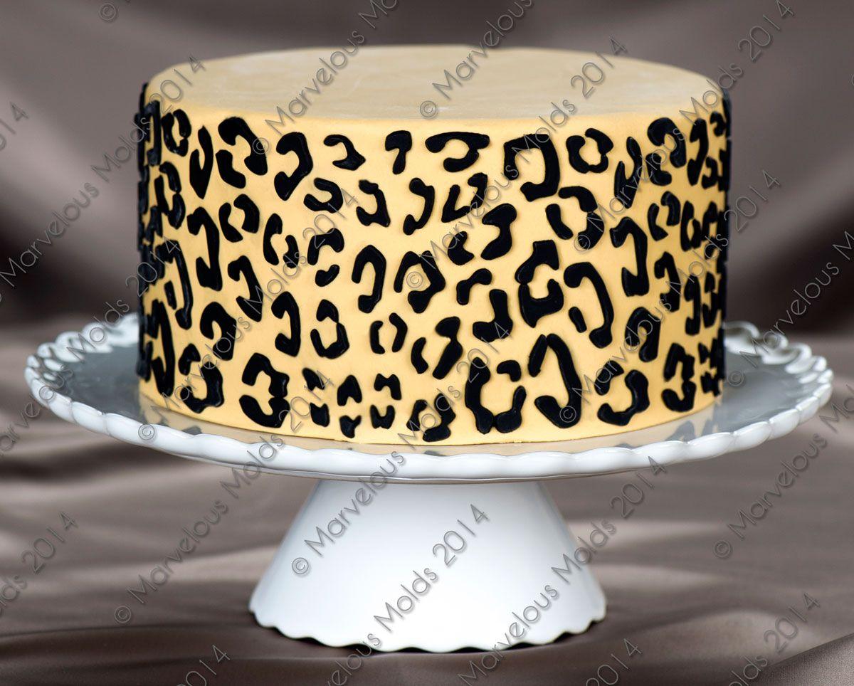 Leopard Silicone Onlay Savoury Cake Leopard Cake Cake Decorating