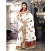 surat-tex-white-bhagalpuri-silk-casual-heavy-embroidery-sarees-with-unstitched-blouse
