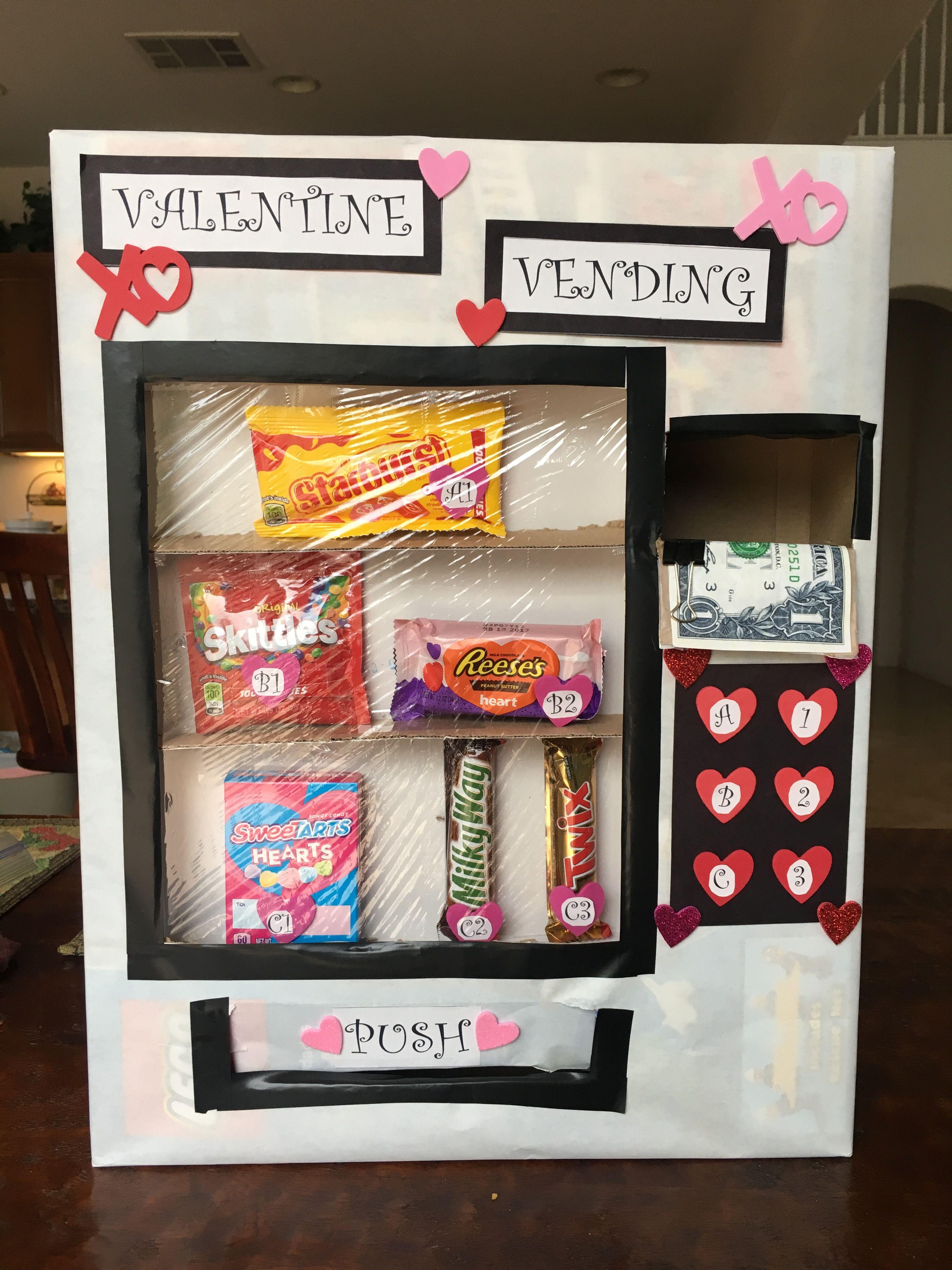 Valentines Vending Machine Box Valentines Gift Box Valentine Card Box Boys Valentines Boxes