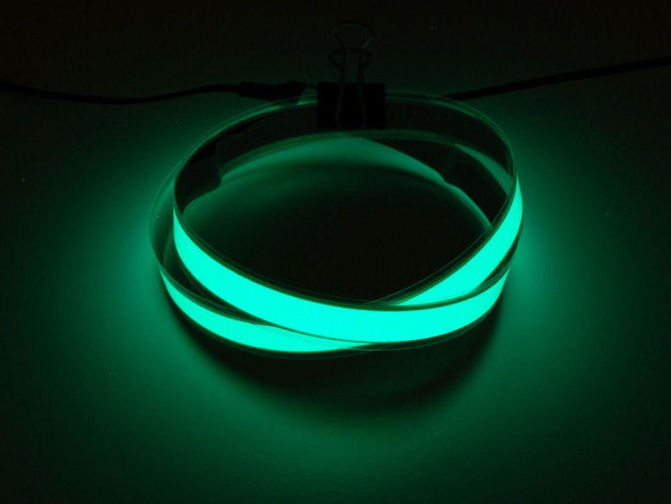 Green Electroluminescent (EL) Tape Strip - 100cm w/2 connectors | EL ...
