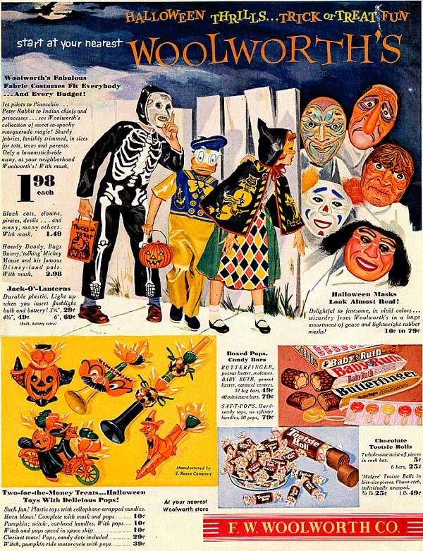 Vintage Halloween Ads.Vintage Halloween Ad Woolworth S C 1954 Oh Yes The Plastic Mask
