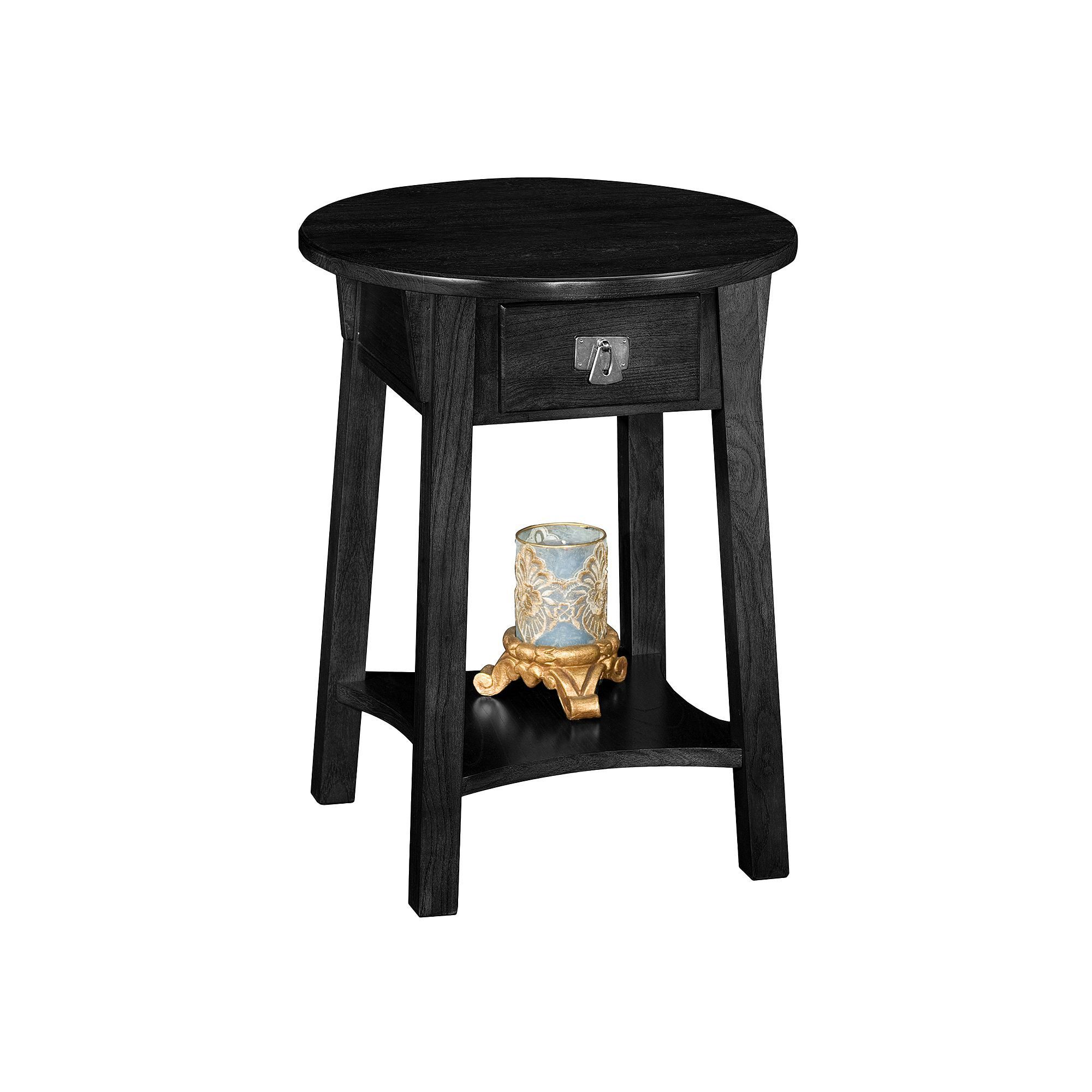 Leick Furniture Round End Table, Black (With images) End