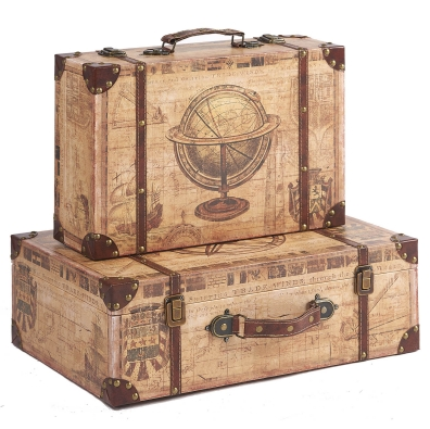 Beautiful Wooden Suitcases Storage Boxes Wholesale Now, They Have Been Expertly  Crafted Of The Finest Materials, Sturdy MDF Structure With Durable PU  Leather Made ...