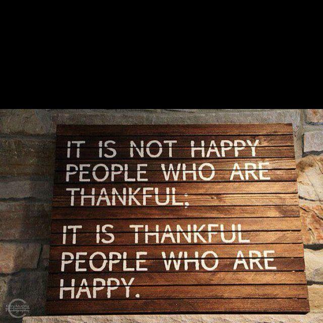 Gratitude.