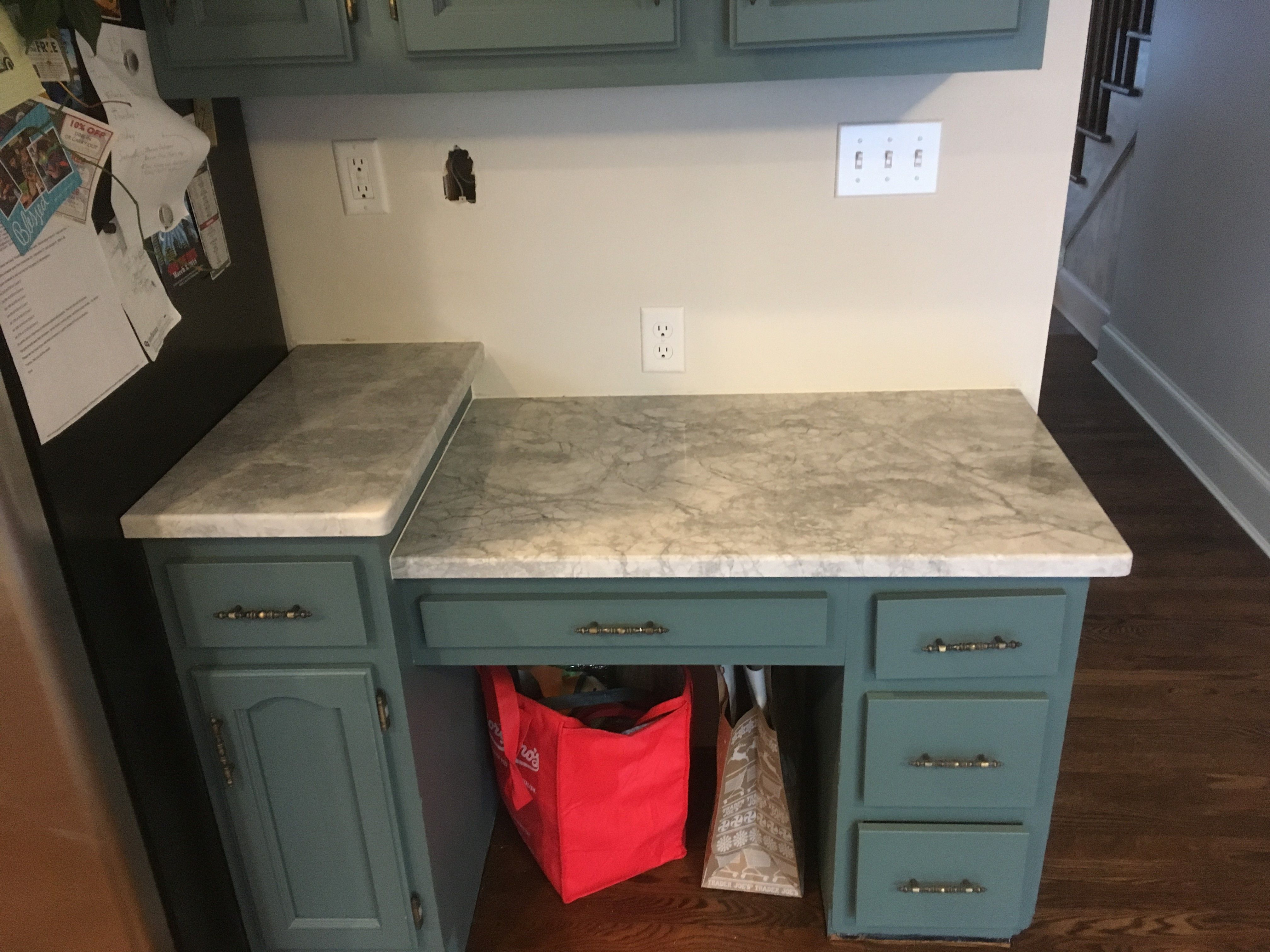In-progress shots of Honed Super White slab from Terrazzo & Marble Supply Companies #remodel #kitchen #quartzite #update #honed #superwhitequartzite