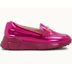 Photo of Tod's – Metallic Leather Loafers, Pink, 36 – Shoes Tod's