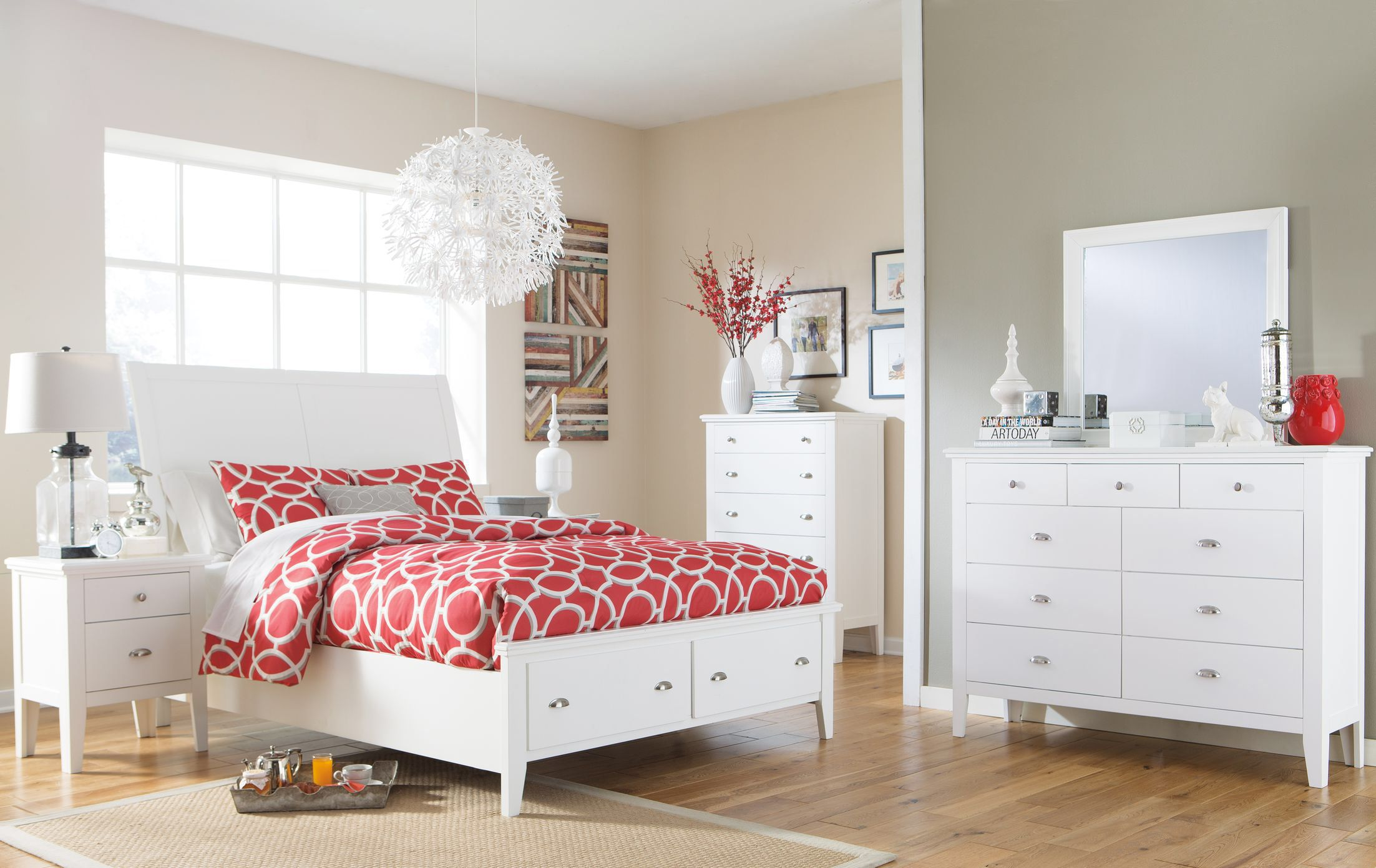 Langlor storage sleigh bedroom collection home mbr pinterest