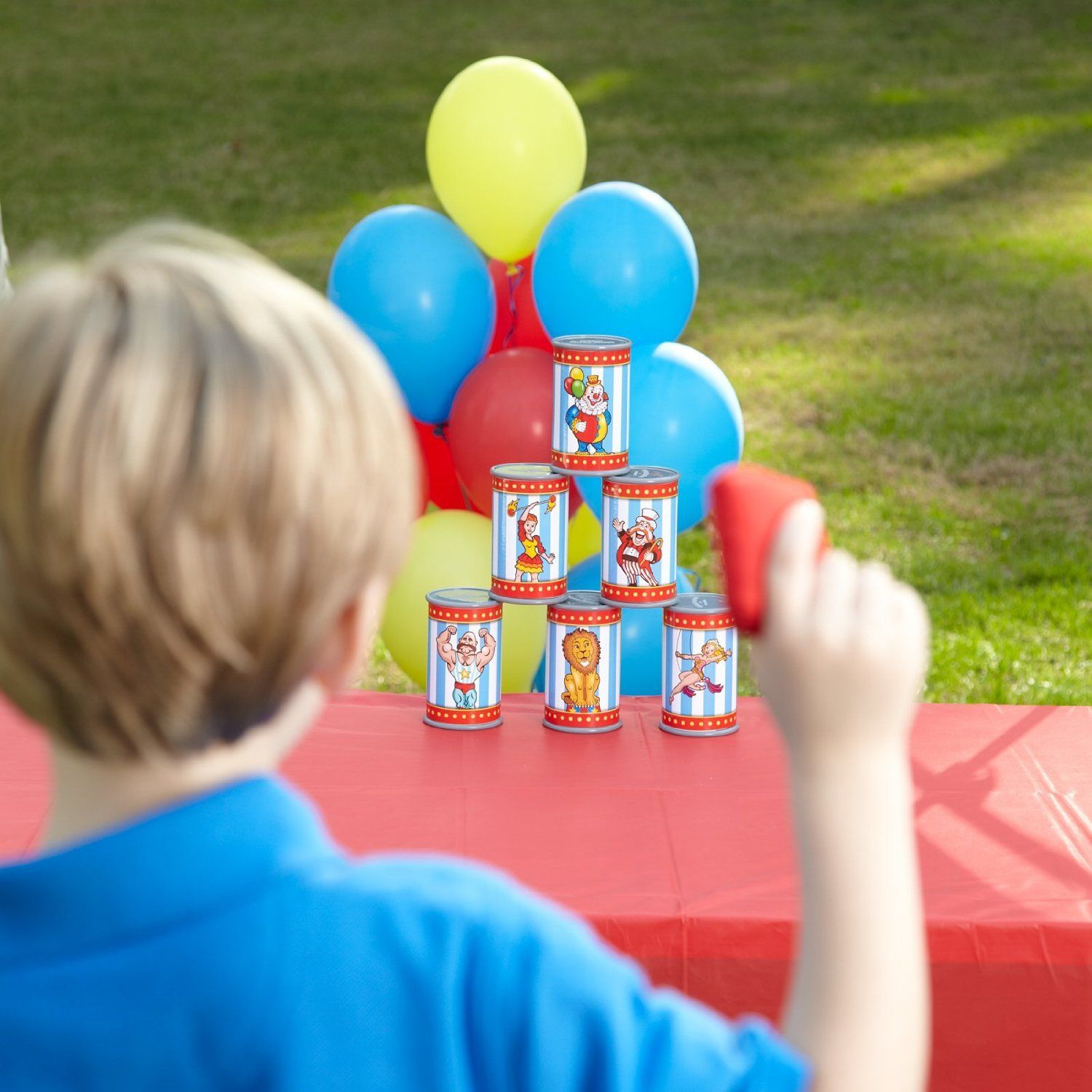 amazon com carnival can toss bean bag game toys u0026 games