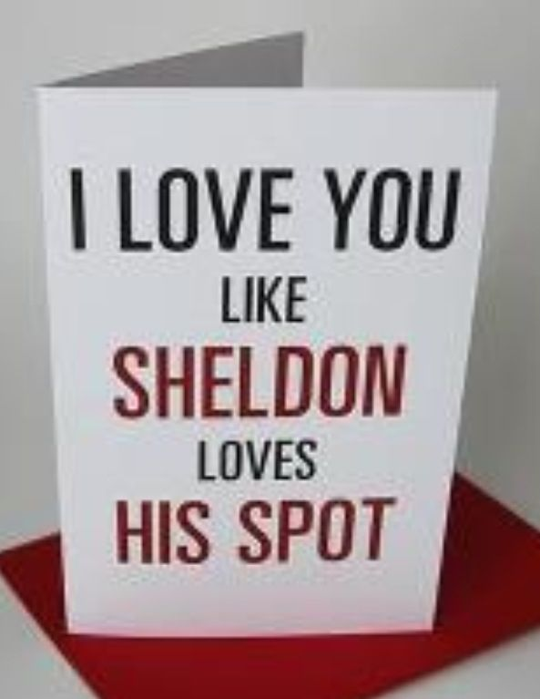 Geek love - Big Bang Theory, Sheldon