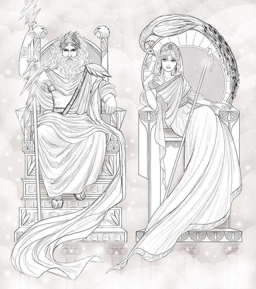 (11) Facebook Zeus and hera, sketch by Cathy Delanssay