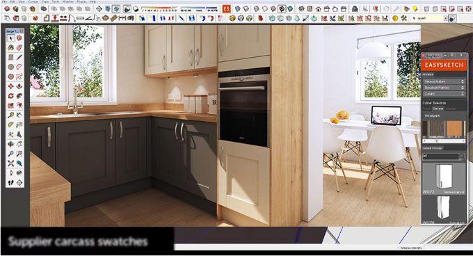 John Atkinson Develops Easysketch Kitchen Design Plugin This Sketchup Plugin Is Compatible With Sketchu Kitchen Design Kitchen Concepts Kitchen Cabinets Decor