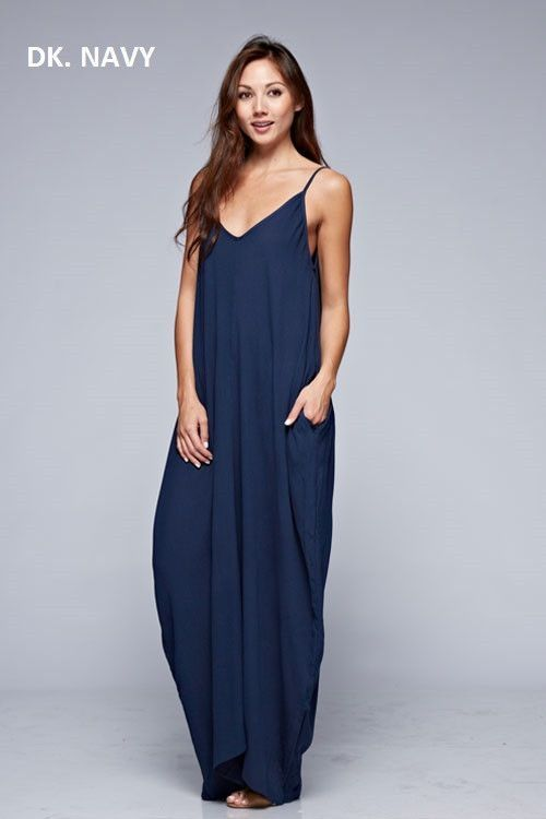 0d3ad5bcc4 Cocoon Maxi Dress Navy Dress