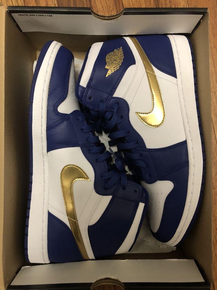New Air Jordan 1 Retro High Gold Medal Size 13 #fashion