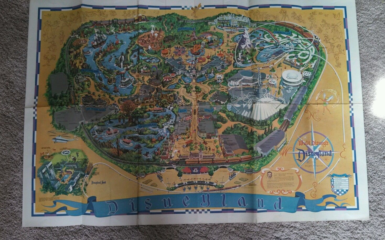 Vintage disney 1966 original disneyland map poster disneyland map vintage disney 1966 original disneyland map poster ebay i have one of these gumiabroncs Gallery