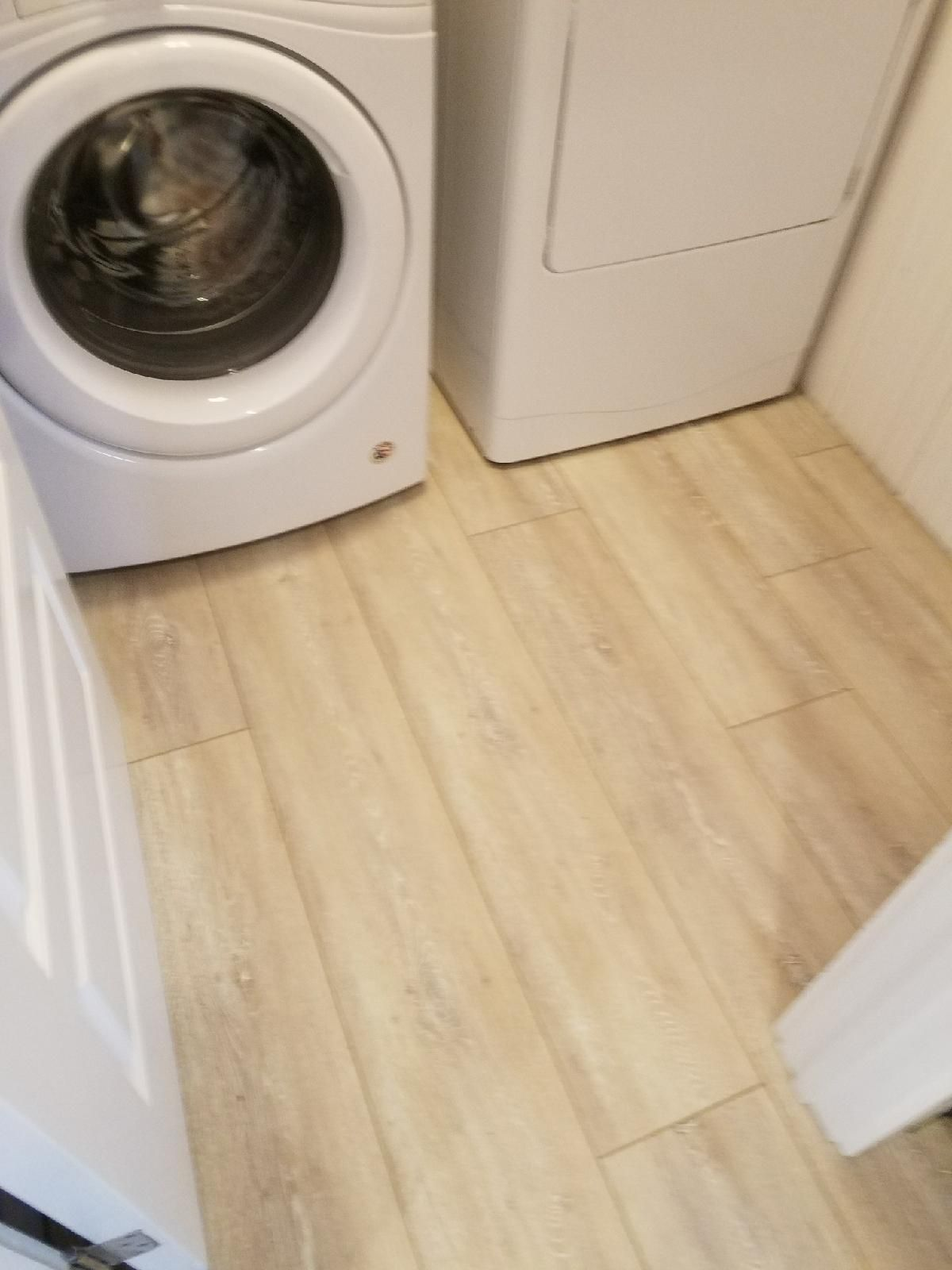 Coretec Plus Enhanced Xl In Everest Oak In Laundry Room Coretec