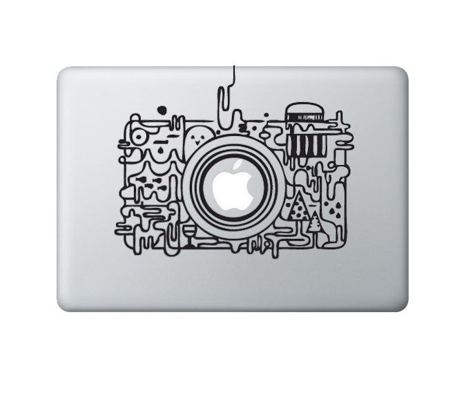 Camera Decal Macbook Stickers Macbook Decals Apple Decal for