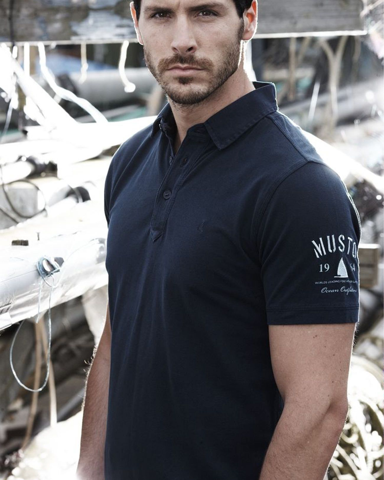 Navy Musto Canvas Collar Polo Yachting Style Ys Pinterest