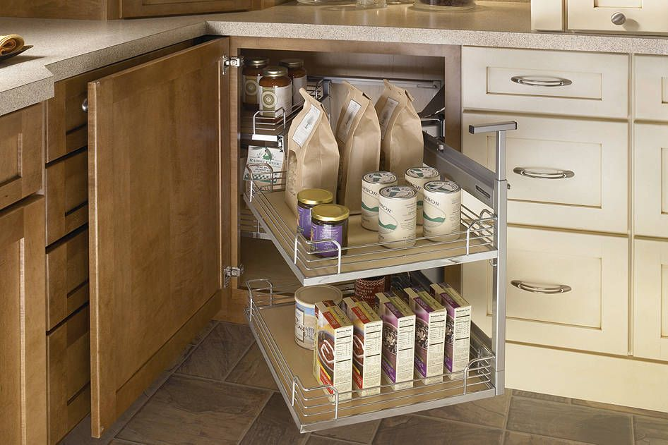 Blind Corner Cabinet With Full Access Trays Medallion