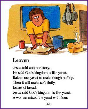 Leaven Jesus Parable Kids Korner Biblewise Parables