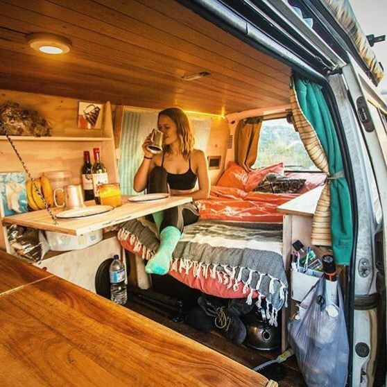 Klapptisch Interieur De Campervan Fourgon Camping Car Caravane