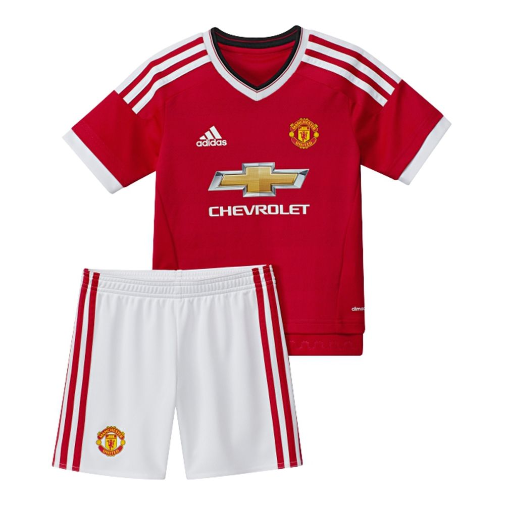 $58.49 - Adidas Manchester United Home Mini '15-'16 Soccer Kit (Real Red/ White) | Manchester United Soccer Jerseys | AC1423 | SoccerCorner.com