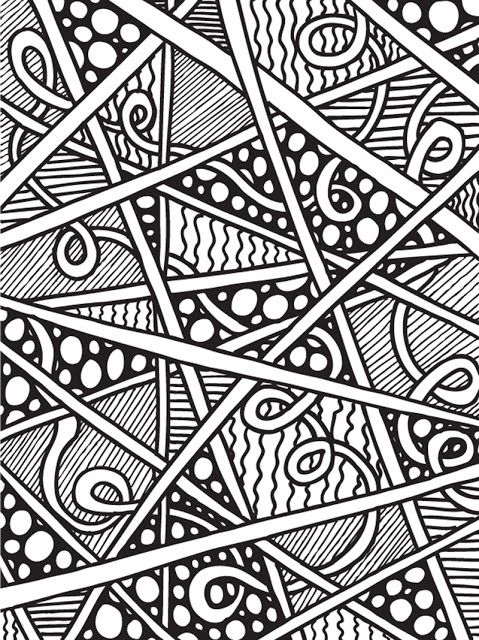 Abstract Doodles Print To Color Abstract Coloring Pages Coloring Books Coloring Pages