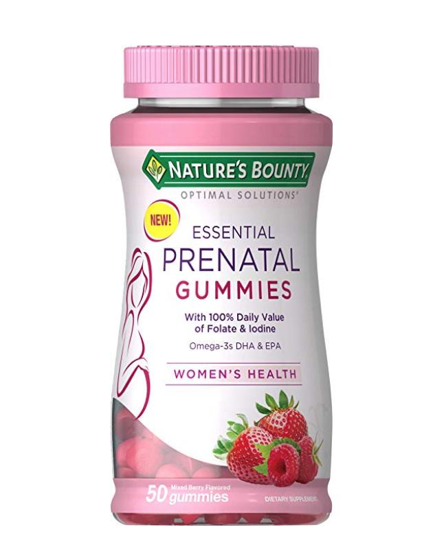 Nature S Bounty Optimal Solutions Essential Prenatal Gummies Prenatal Vitamins Prenatal Gummy Vitamins