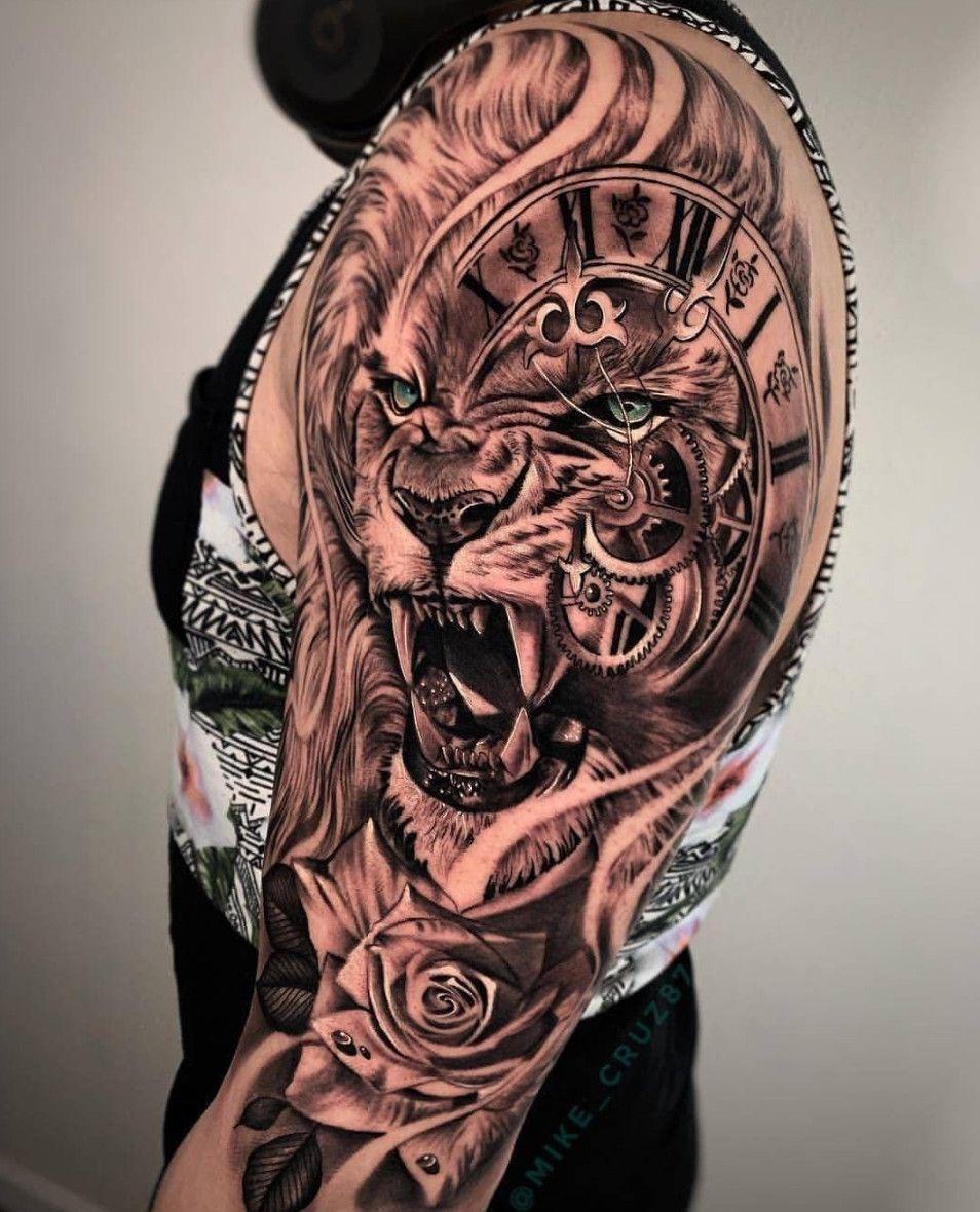 Lion Arm Sleeve : sleeve, Fierce, Tiger, Tattoo, @_cristianogalvan, Texas, Www.otziapp.com, Sleeve, Tattoos,, Shoulder, Tattoo,, Designs