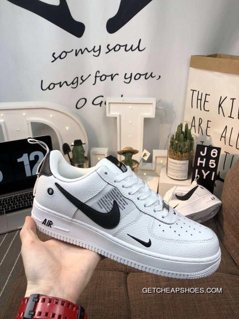 17a71aaf962d Women/Men Latest Nike Air Force One AJ7747-100 R Hook Classic All-Match  Sneakers White And Black