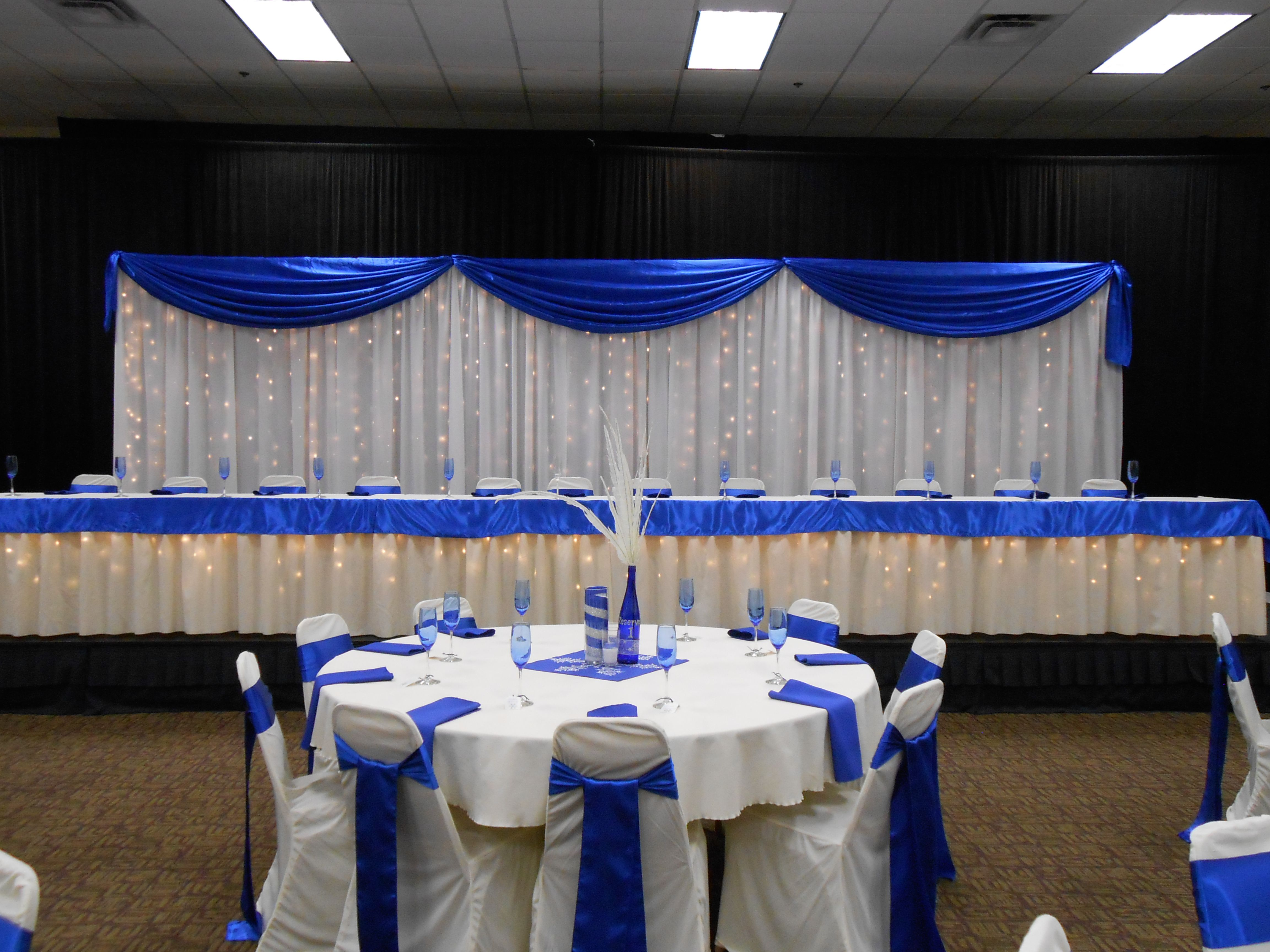 White D Ry Backdrop Royal Blue Daccent