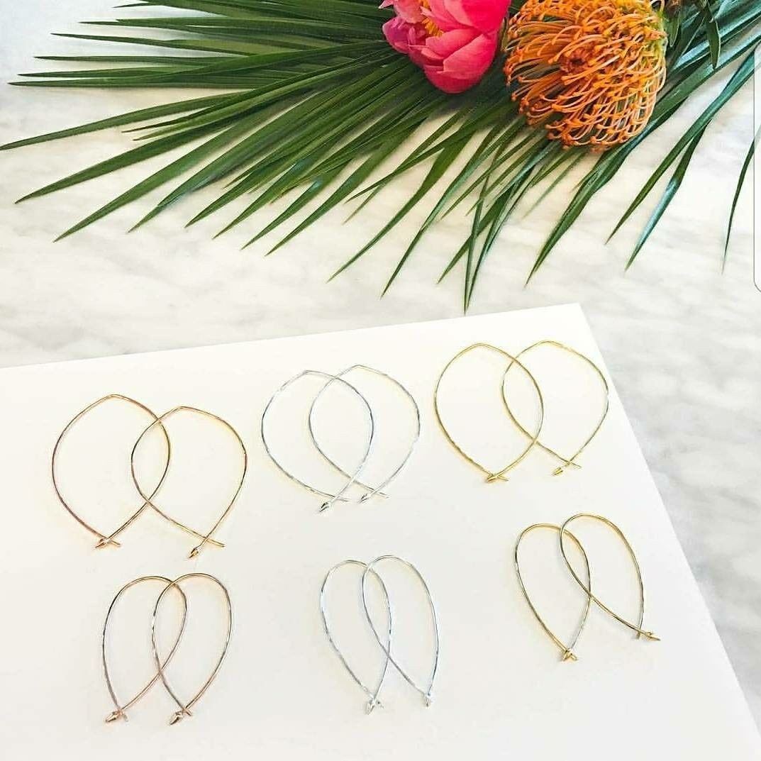 Hammered Wire Hoops. Large or Small and Gold or Silver | Stella ...