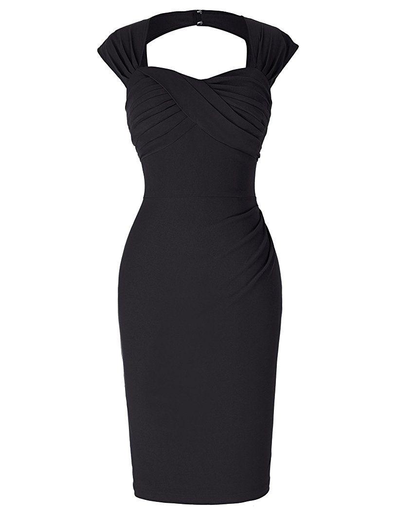 Belle Poque 13er Style Vintage Kleid Elegant Etuikleid Knielang