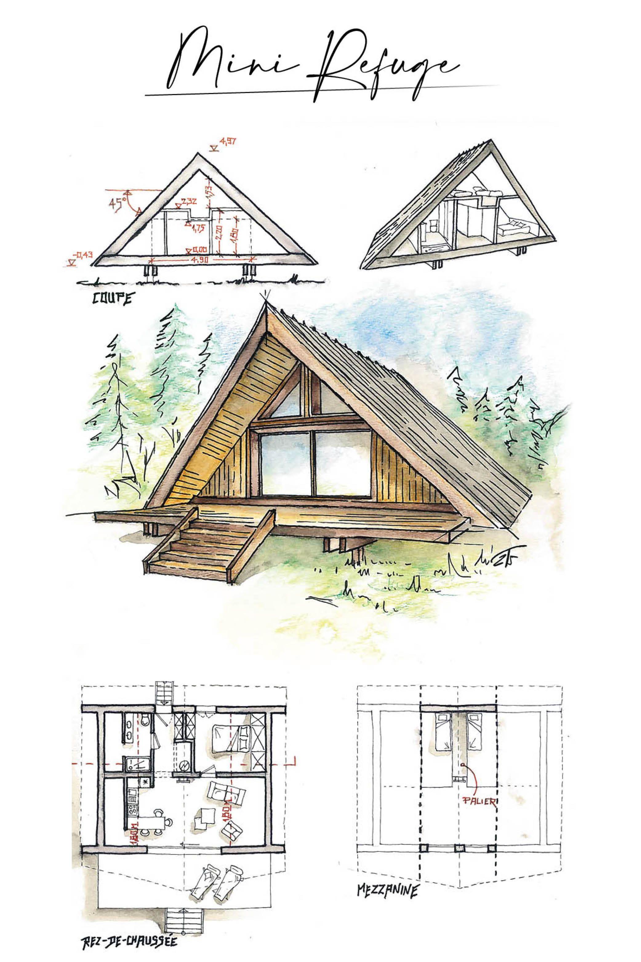 Mini Chalet En Bois En 2020 Chalet Bois Mini Chalet Camping De Luxe