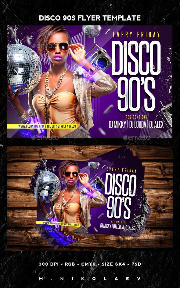Disco 90S Flyer | Discos, Flyer Size And Flyer Template