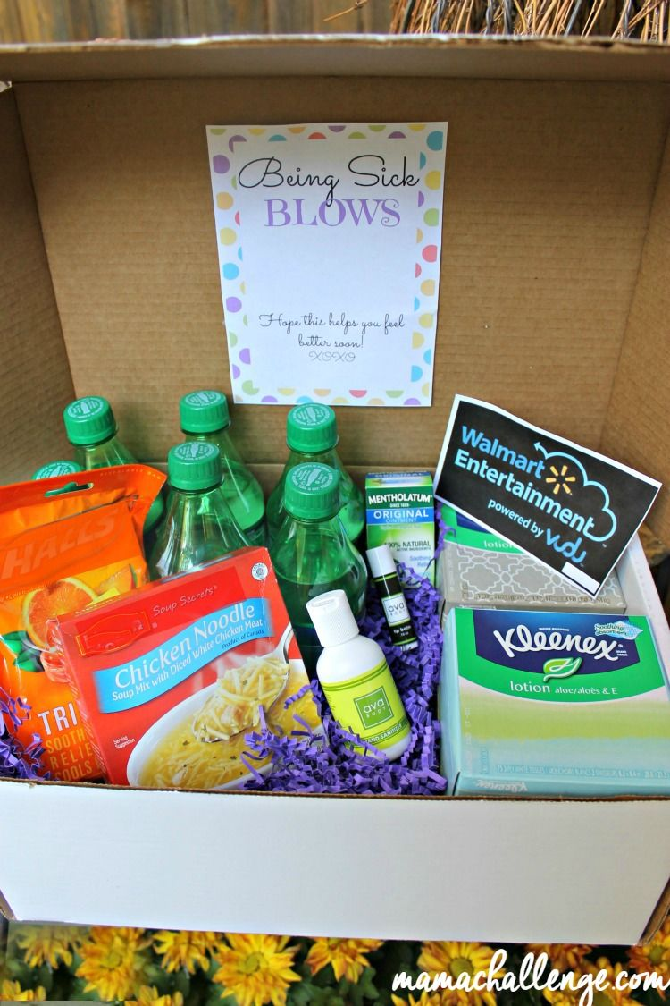 Being sick blows get well care package printable get