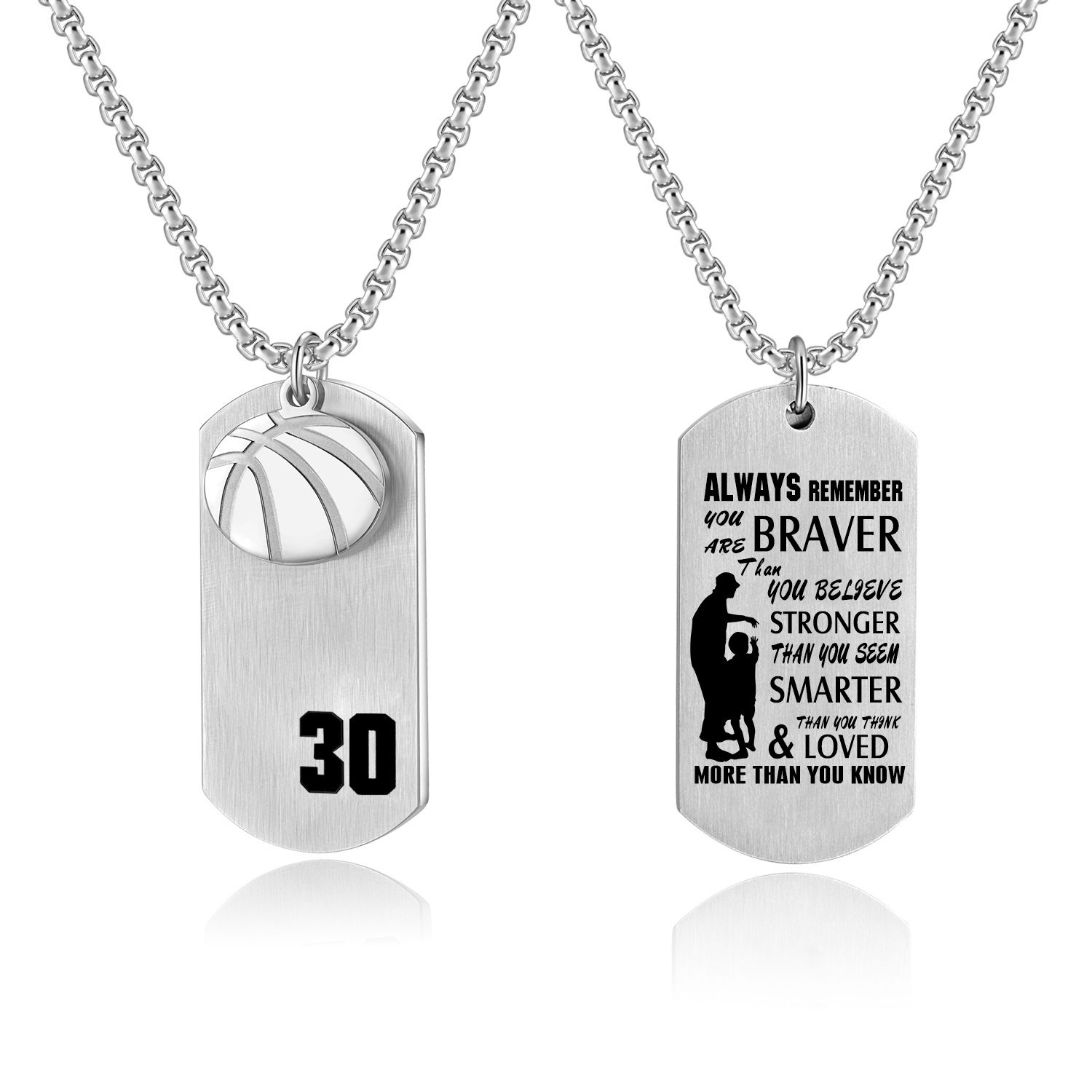 Father Mother Pendant To My Son Daughter dog tag necklace