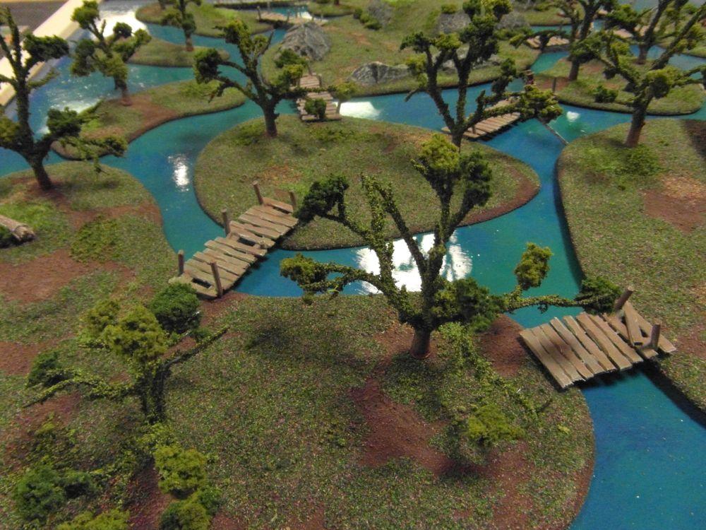 Folding Swamp Board, Black Pit Wargames