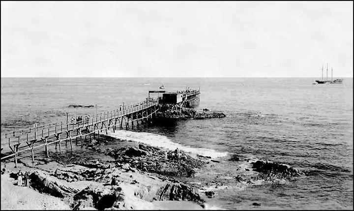 Laguna Beach Pier, Late 1890's. Laguna Beach, CA. www.jeffreymarkell.com #orangecountyrealtor #jeffforhomes #luxury