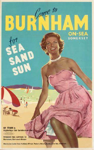 Come to Burnham-on-Sea, Somerset, for Sea, sand, sun - British Railways - 1961 -