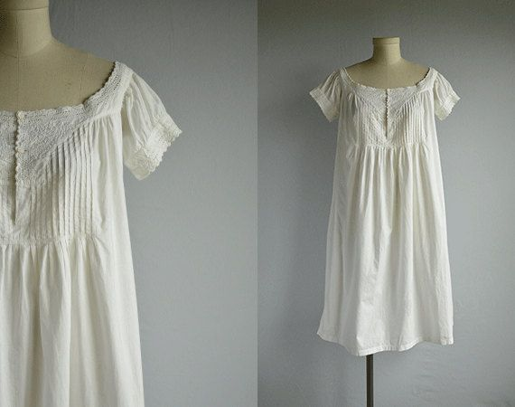 e2aec8b805 Antique Victorian Nightgown   Vintage Hand by zestvintage on Etsy ...