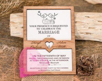 Forest wedding invitation wood wedding di AmazingWoodCraft su Etsy