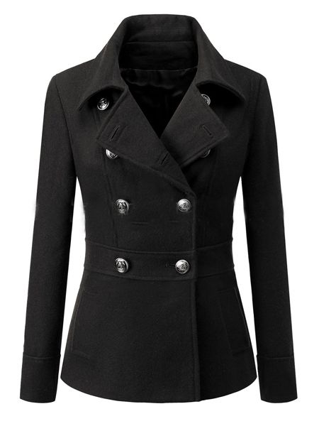 Fabulous Lapel Loose Fitting Plain Overcoats Overcoats from fashionmia.com