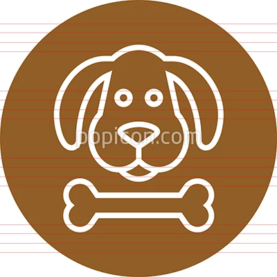 Dog S Head With Bone Outline Icon Animal Icon Pictograph Icon