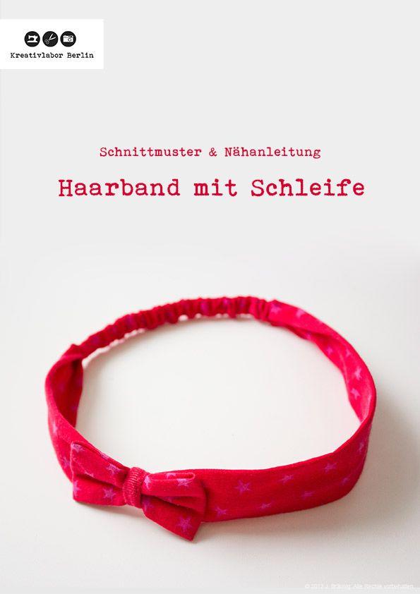 Haarband mit Schleife in 5 Größen (Baby bis Erwachsene   Selber ...